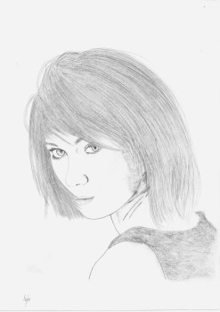 Olga Kurylenko ,Crayon, 2012, (c) Tyler Rease - Original picture by Unlnown