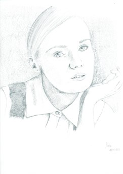 Diane Kruger, crayon , 2014 (c) Tyler Rease - Original picture by Unlnown